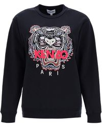 KENZO Sweatshirt With Tiger Embroidery - Black