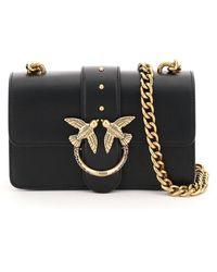 Pinko Love Mini Icon Jewel 1 Chain Bag Os Leather - Black