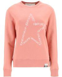Golden Goose Athena Logo Sweatshirt - Pink