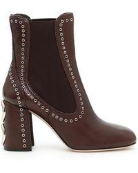Miu Miu - Studded Heeled Boots - Lyst