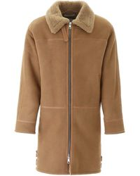 Paura Shearling Coat - Brown