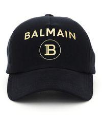 Balmain Logo Baseball Cap - Black