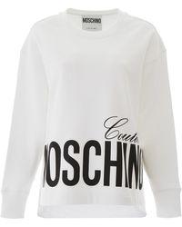 Moschino Couture Print Sweatshirt - White