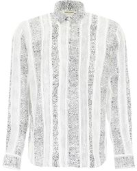 Saint Laurent - Yves-neck Bandana Print Shirt - Lyst
