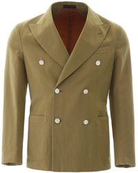 The Gigi Double-breasted Jacket - Green