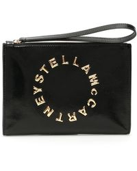 Stella McCartney Logo Clutch - Black