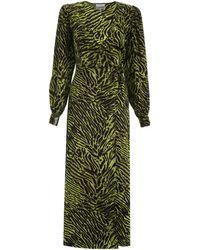 Ganni Silk Stretch Satin Dress - Green