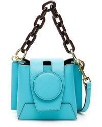 Yuzefi Daria Mini Bucket Bag - Blue