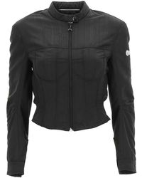 Marine Serre Moire Short Jacket - Black