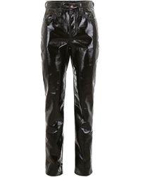 Saint Laurent Vinyl Trousers - Black