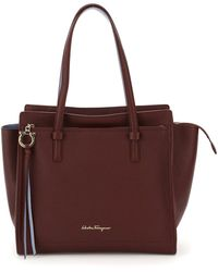 Ferragamo Amy Leather Shopping Bag - Multicolour