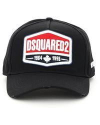 DSquared² Baseball Cap Logo Os Cotton - Black