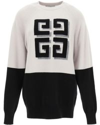 Givenchy Cashmere Jumper With 4g Logo Xs Cashmere - Grey