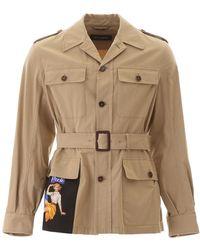 Dolce & Gabbana Belted Safari Jacket - Natural