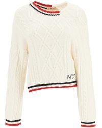 N°21 Asymmetric Sweater - White