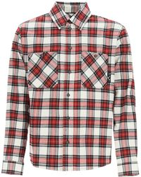 Off-White c/o Virgil Abloh Check Flannel Shirt M Cotton - Red