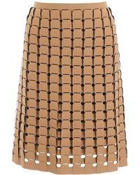 Bottega Veneta Woven Rubber Skirt - Natural