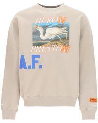 Heron Preston Heron A.f. Crewneck Sweatshirt S Cotton - Multicolor
