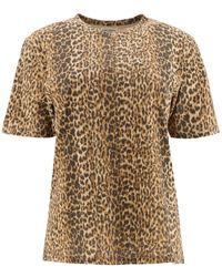 Saint Laurent Leopard Print T-shirt - Multicolor