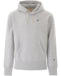 Champion Men's Hooded Sweatshirt - Grey