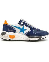 Golden Goose Deluxe Brand Sneakers Running Blu - Blue