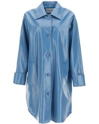 STAND Kali Faux Leather Coat 36 Faux Leather - Blue