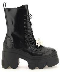 Simone Rocha Tracker Sole Lace-up Boots - Black