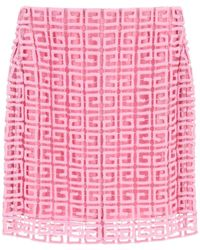 Givenchy 4g Guipure Mini Skirt - Pink