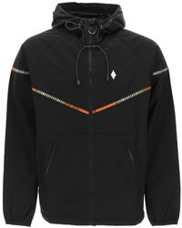 Marcelo Burlon Cross Nylon Tape Windproof Jacket S Technical - Black