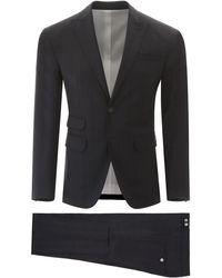 DSquared² London Check Suit - Blue