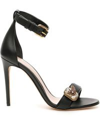 Alexander McQueen 110mm Crystal-embellished Sandals - Black