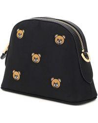 Moschino Teddy Bear Mini Crossbody Bag Os Technical - Black