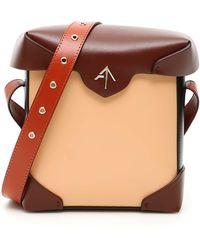 MANU Atelier Mini Pristine Multicolour Bag - Brown