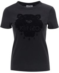 KENZO Flock Tiger T-shirt - Black