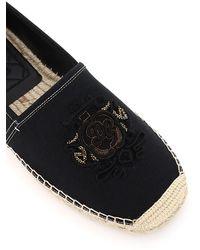 Dolce & Gabbana Dolce & Gabbana Boccaccio Espadrilles Dg Coat Of Arms - Black