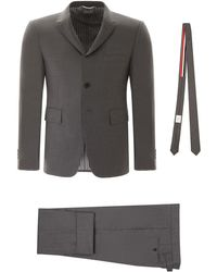 Thom Browne Suit With Tie - Gray