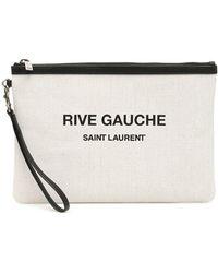 Saint Laurent Clutch Rive Gauche - Multicolore