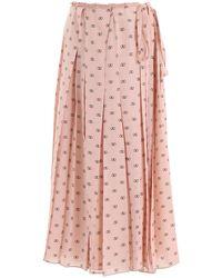 Valentino Mini V Logo Skirt - Pink