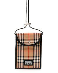 Burberry MICRO BAG VINTAGE CHECK - Neutro