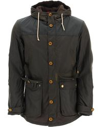 Barbour Game Parka In Waxed Cotton M Cotton - Black