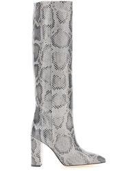 Paris Texas Python-print Boots - Grey