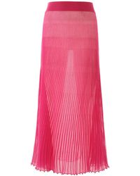 Jacquemus Helado Pleated Skirt - Pink