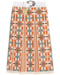 Chopova Lowena Jacquard Wool Midi Skirt - Multicolor