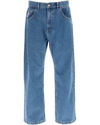 Rassvet (PACCBET) Loose Fit Straight Jeans S Cotton,denim - Blue