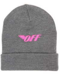 Off-White c/o Virgil Abloh Embroidered Beanie - Grey