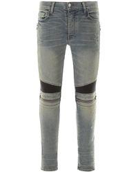 Amiri Slim Fit Biker Jeans - Blue