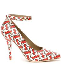 Burberry Wiltkin Court Shoes - Red