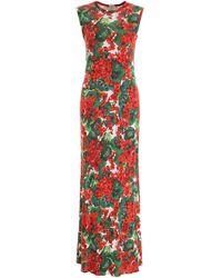 Dolce & Gabbana Printed Jersey Dress - Red