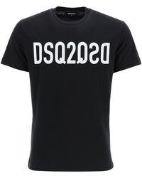DSquared² T-SHIRT STAMPA DSQ2 - Nero
