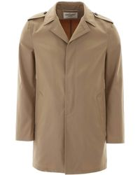 Saint Laurent Midi Trench - Natural
